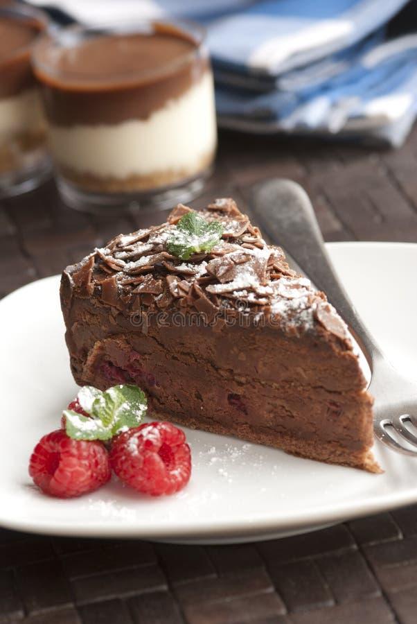 пирог шоколада стоковые изображения