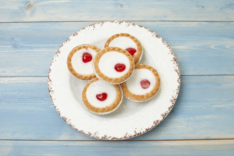 Пирог Bakewell вишни стоковые изображения rf