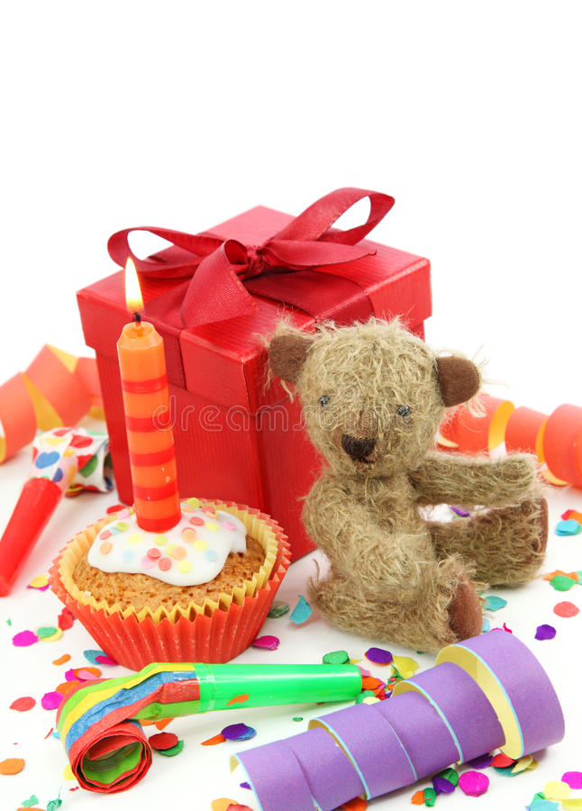 пирожне дня рождения стоковая фотография