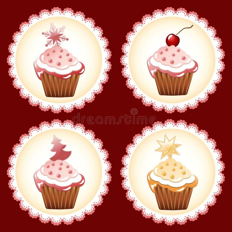пирожне рождества иллюстрация вектора