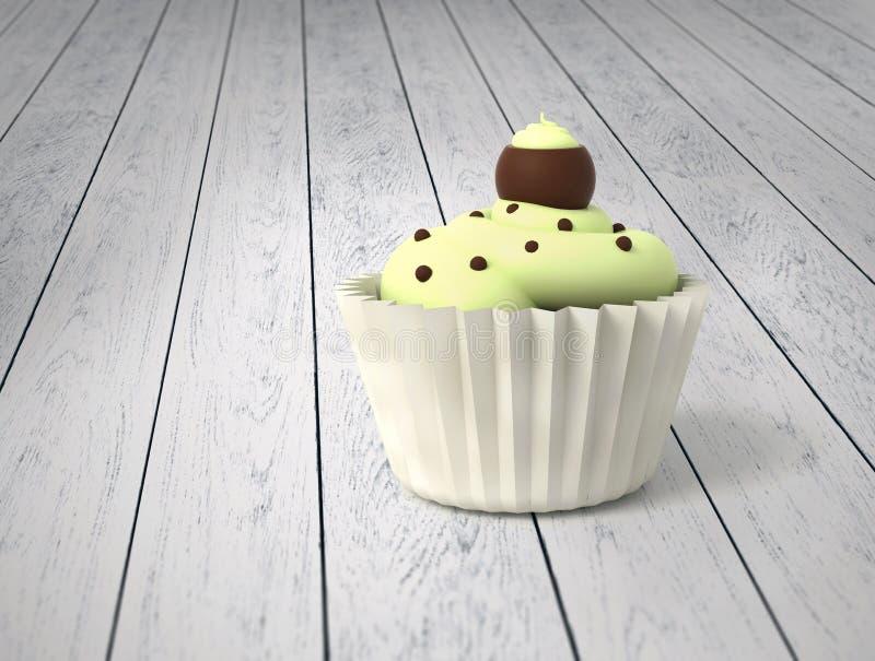 Пирожное подарка с шариками сливк и шоколада фисташки на холодном wh стоковые изображения rf