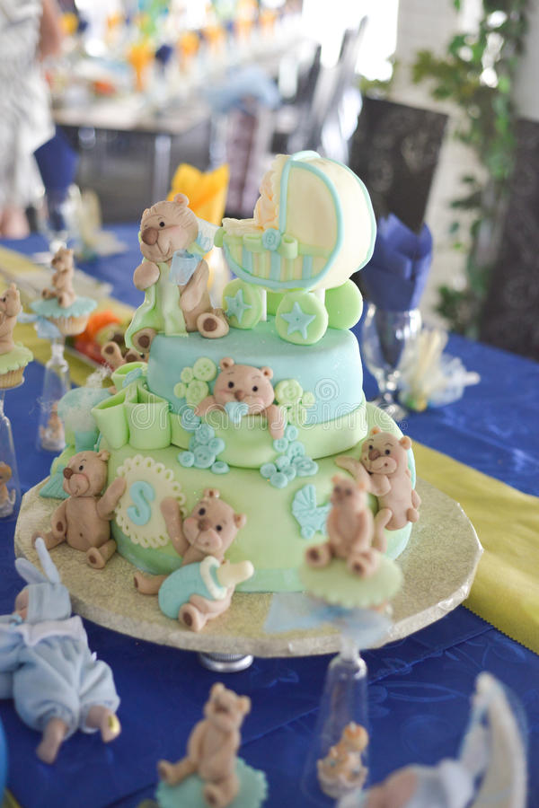 Пирожное плюшевого медвежонка стоковое фото rf
