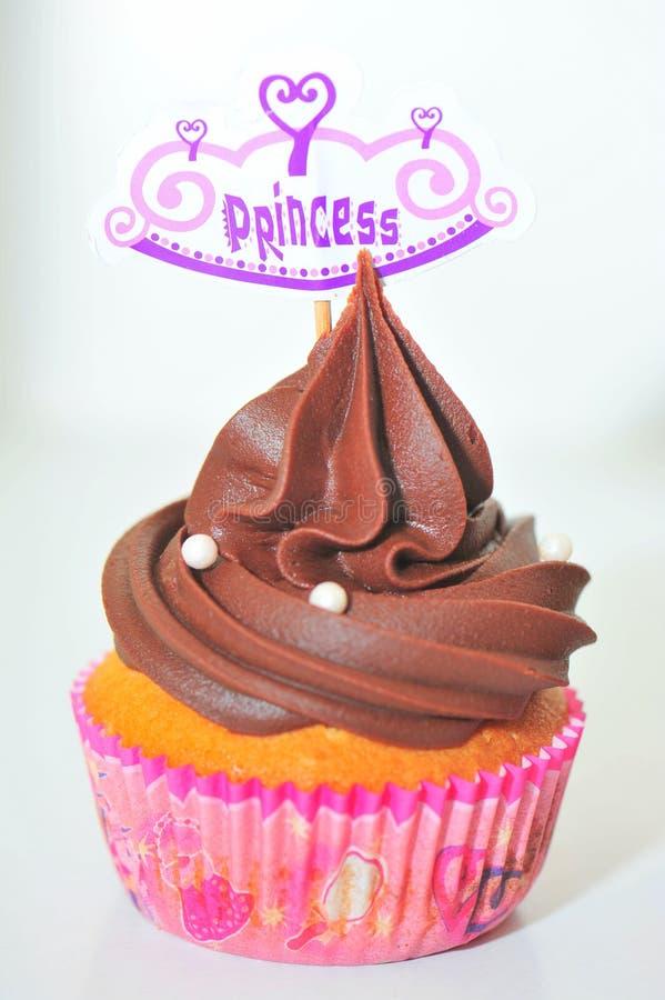 Пирожное шоколада с украшением принцессы стоковые фотографии rf