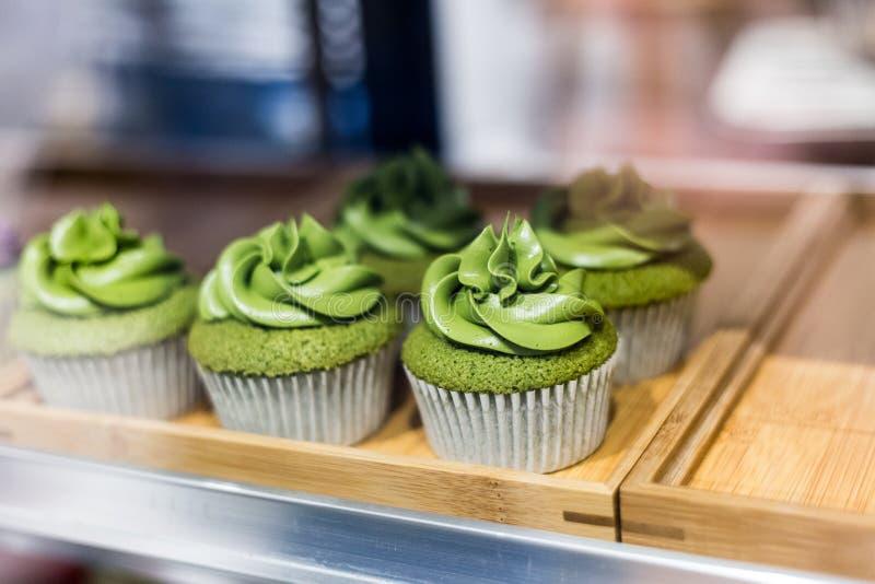 Пирожные зеленого чая стоковая фотография rf
