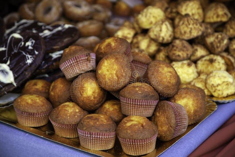 Пирожные и шоколад ремесла стоковое изображение