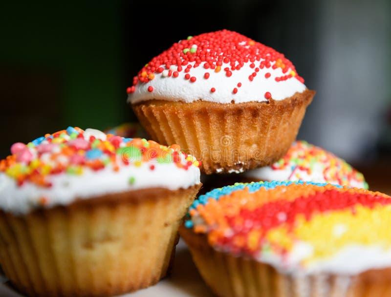 Пирожные праздника с изюминками стоковое изображение