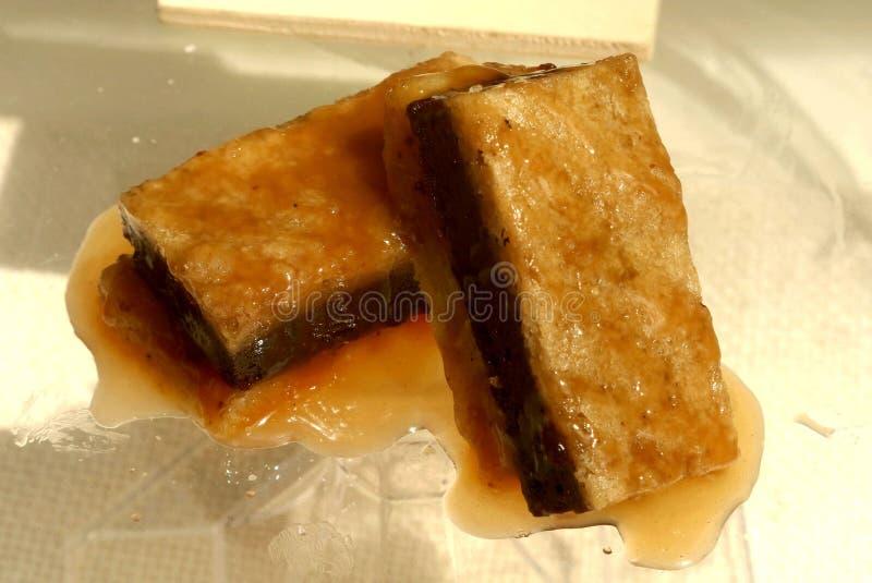 Пирожные шоколада карамельки и butterscotch стоковая фотография