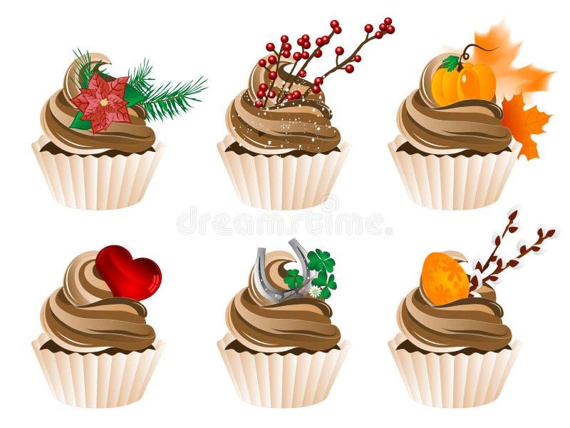 Пирожные бесплатная иллюстрация