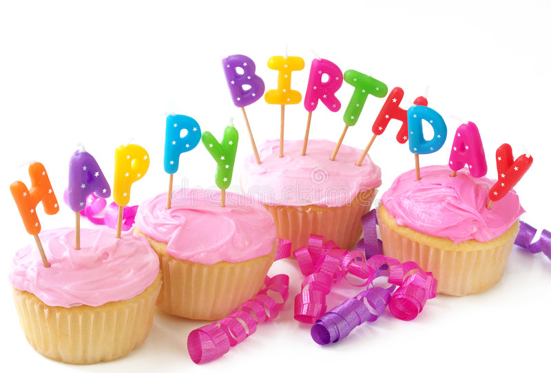 пирожня дня рождения стоковое фото