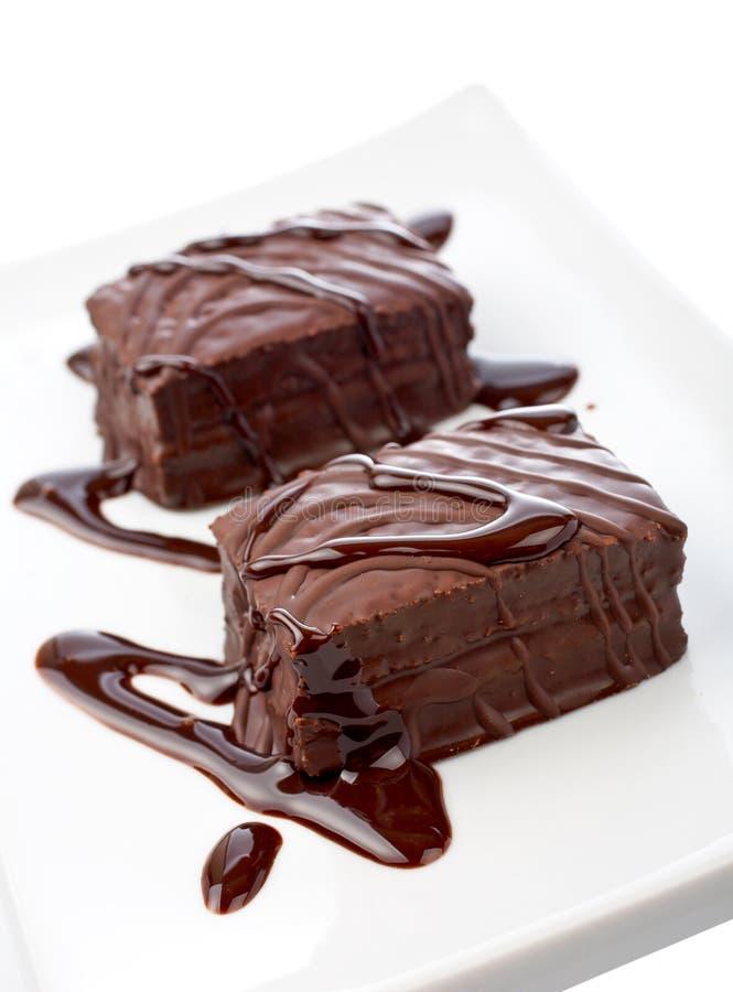 пирожня 2 шоколада стоковые изображения