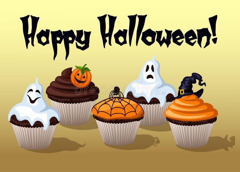 пирожня halloween иллюстрация штока