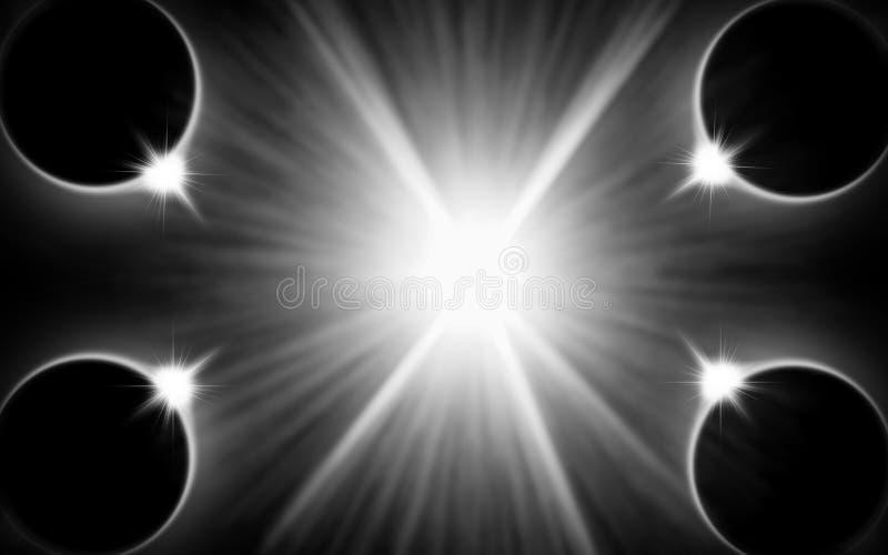 пирофакелы цифрово черный луч иллюстрация штока
