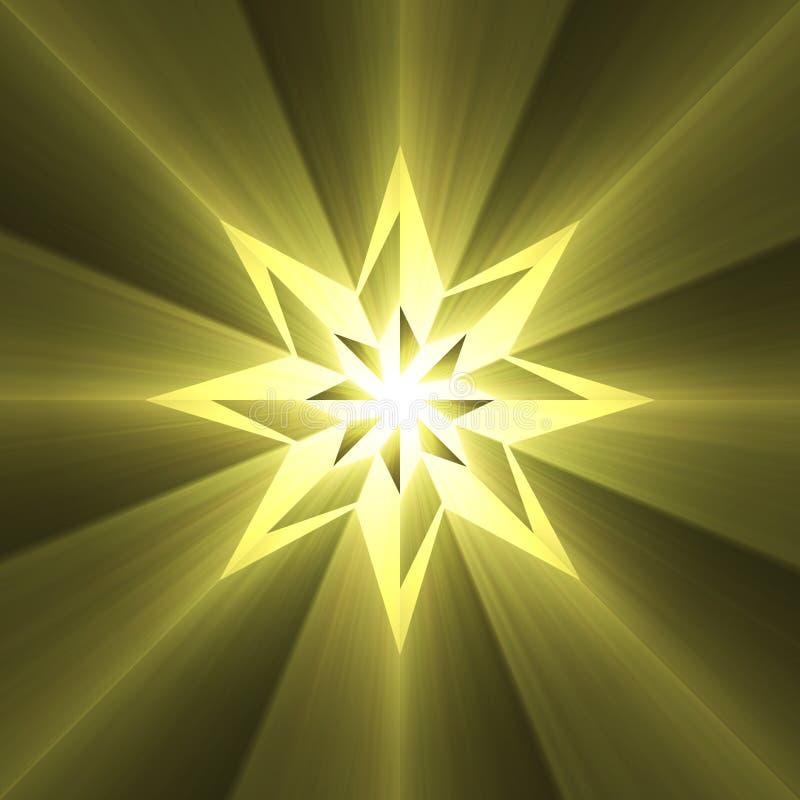 Пирофакел света звезды компаса 8 пунктов иллюстрация штока