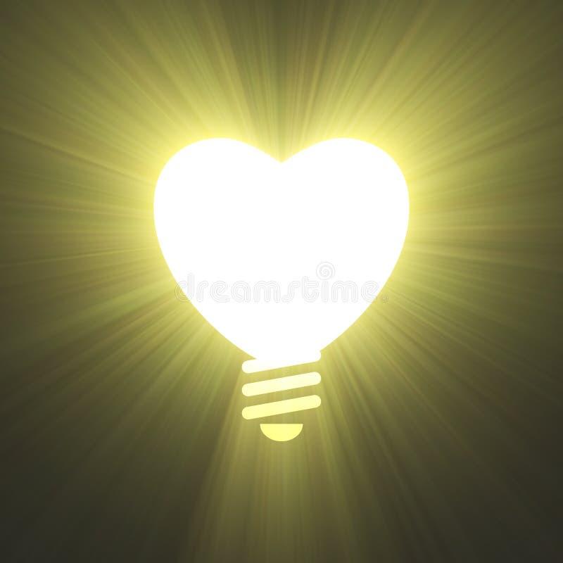 Пирофакел света символа лампочки формы сердца бесплатная иллюстрация