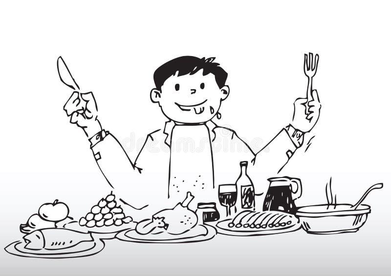 пиршество шведского стола бесплатная иллюстрация