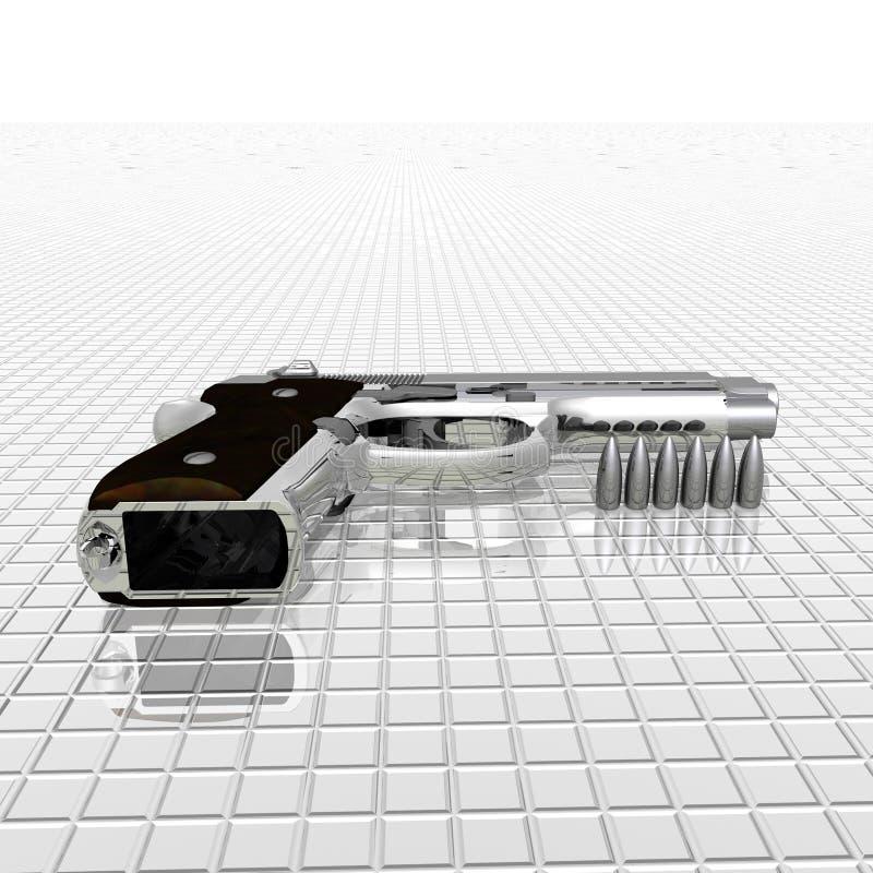 пистолет крупного плана иллюстрация вектора