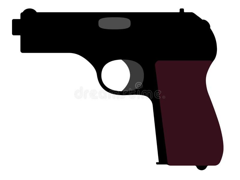 Пистолет от Второй Мировой Войны Иллюстрация вектора силуэта бесплатная иллюстрация