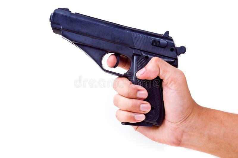 пистолет удерживания руки стоковая фотография rf