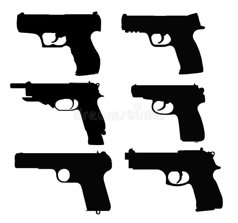Пистолеты иллюстрация вектора