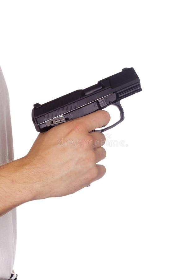 Пистолет в руке стоковые фотографии rf