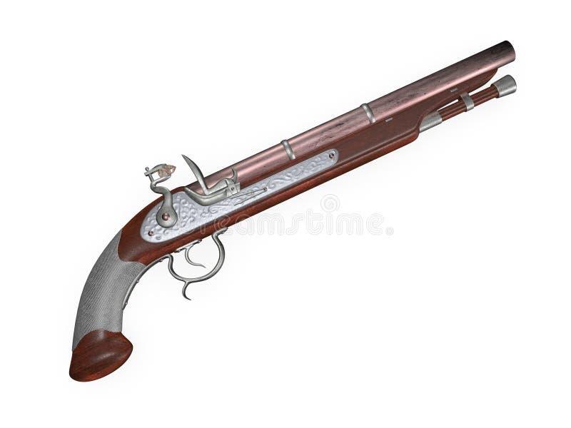 Пистолет кремнёвого замка бесплатная иллюстрация