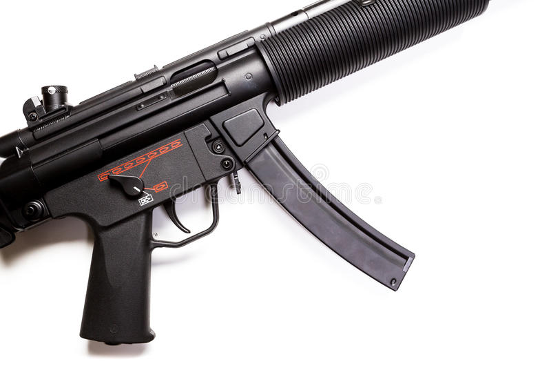 Пистолет-пулемет с звукоглушителем стоковая фотография