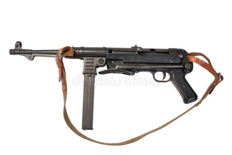 Пистолет-пулемет MP38/40 на белой предпосылке стоковое изображение