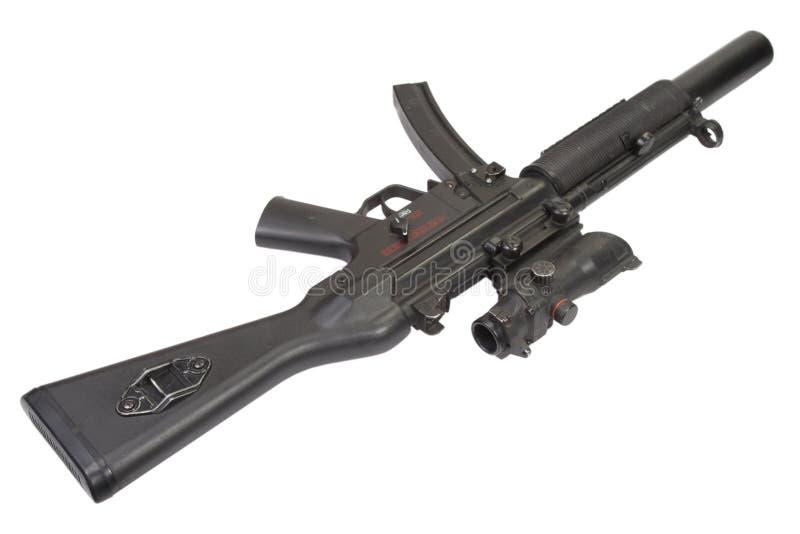Пистолет-пулемет MP5 с звукоглушителем стоковое фото