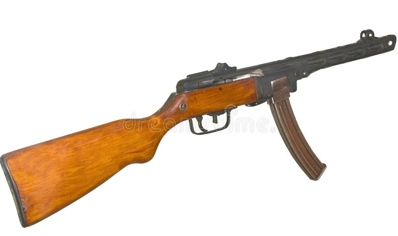 Пистолет-пулемет ppsh-41 стоковые фото