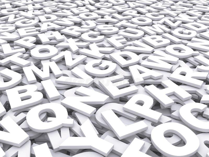 Письма английского алфавита. иллюстрация штока