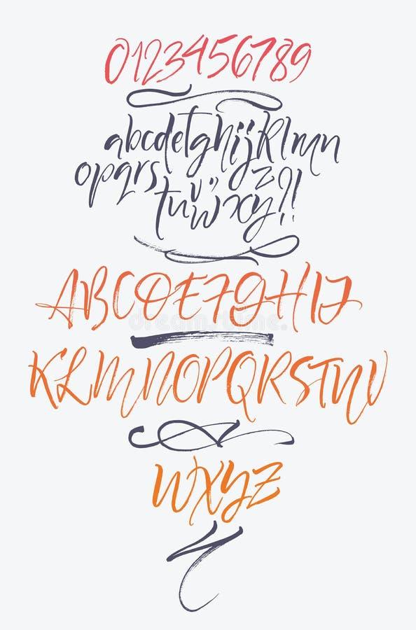 Письма алфавита: строчный, uppercase, номера элементы алфавита scrapbooking вектор бесплатная иллюстрация