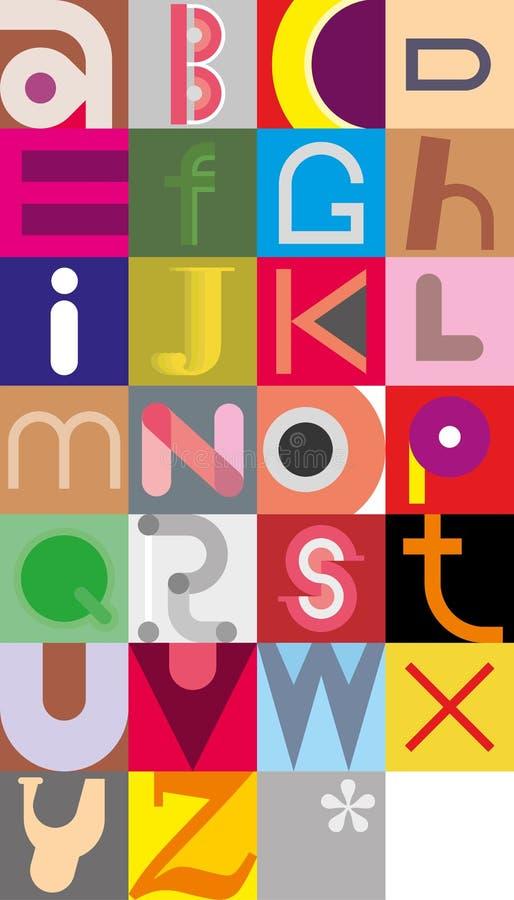 Письма алфавита бесплатная иллюстрация