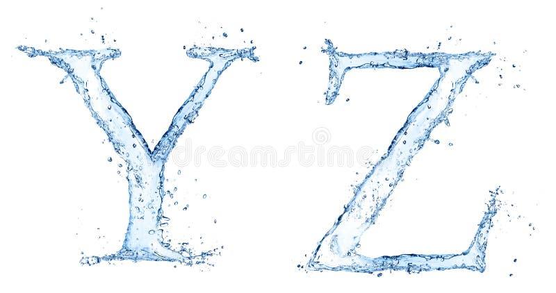 Письма воды стоковые фотографии rf