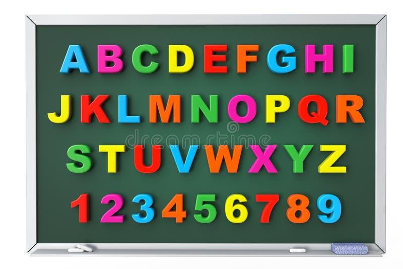 Письма игрушки алфавита магнитные над классн классным бесплатная иллюстрация