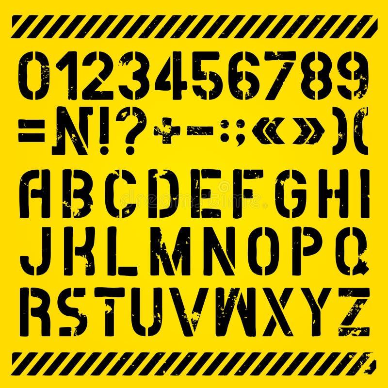 Письма и покрашенные номерами восковки иллюстрация штока