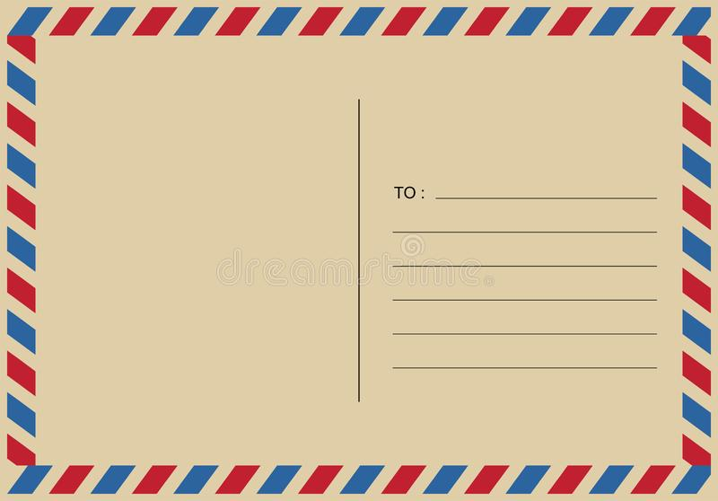 Письма и postmarks, вектор дизайнов воздушной почты бесплатная иллюстрация