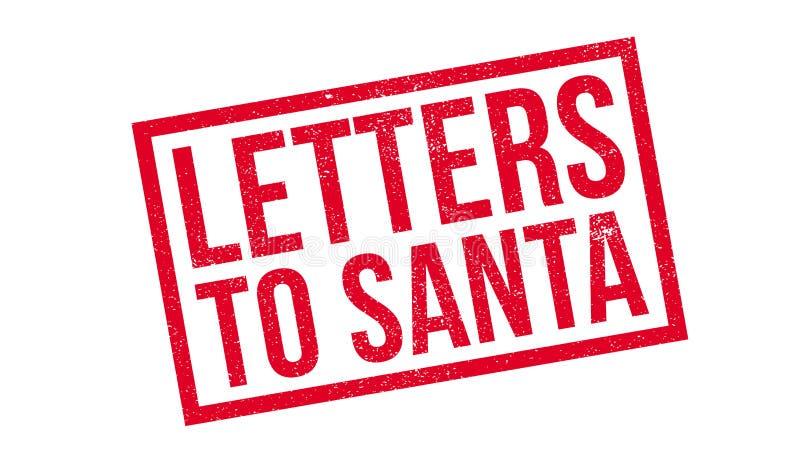 Письма к избитой фразе Санты иллюстрация вектора
