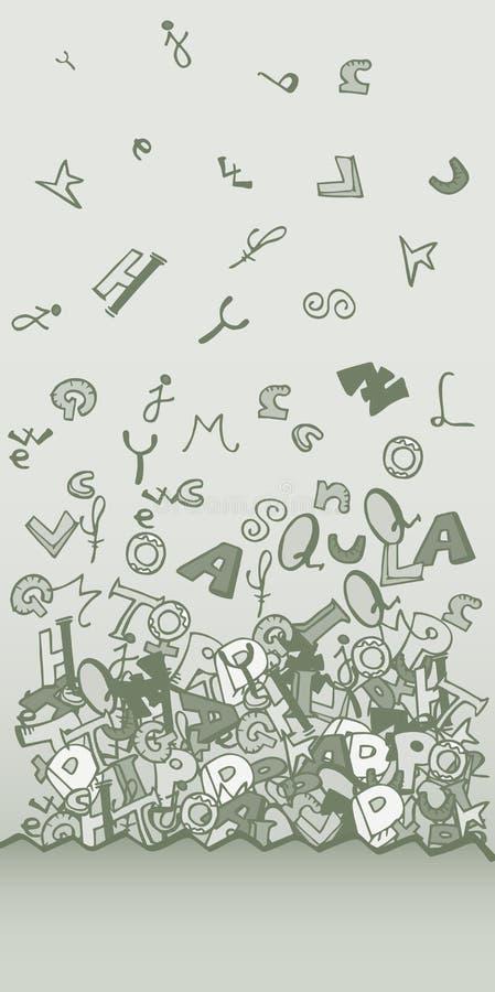 Письма летают карточка бесплатная иллюстрация