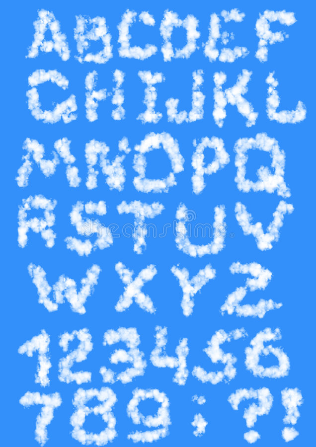 письма облаков иллюстрация штока
