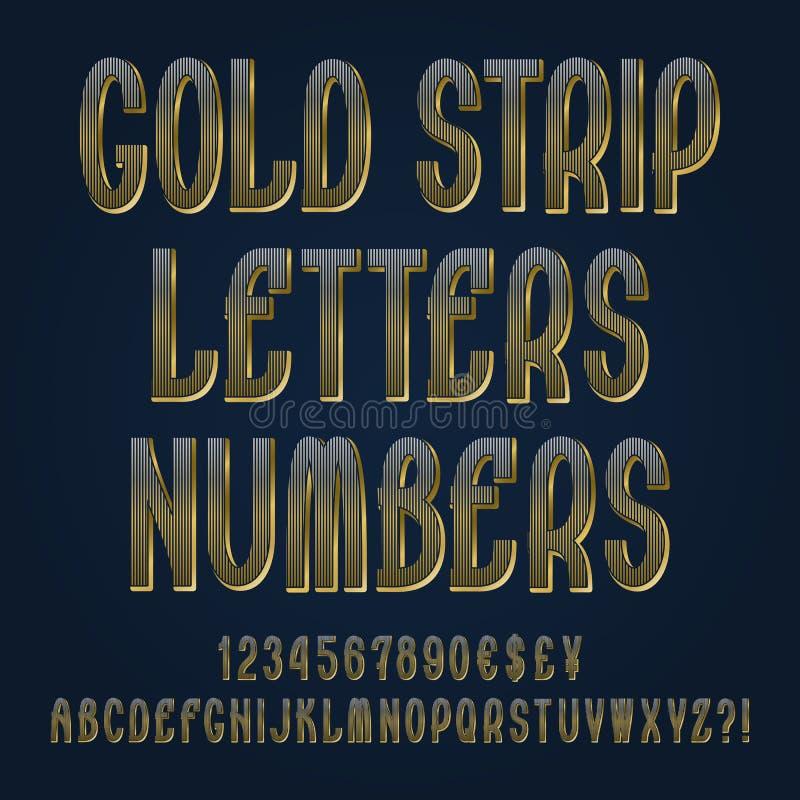Письма прокладки золота, номера, знаки валюты доллара, иен, фунта и евро, возглас и вопросительные знаки бесплатная иллюстрация