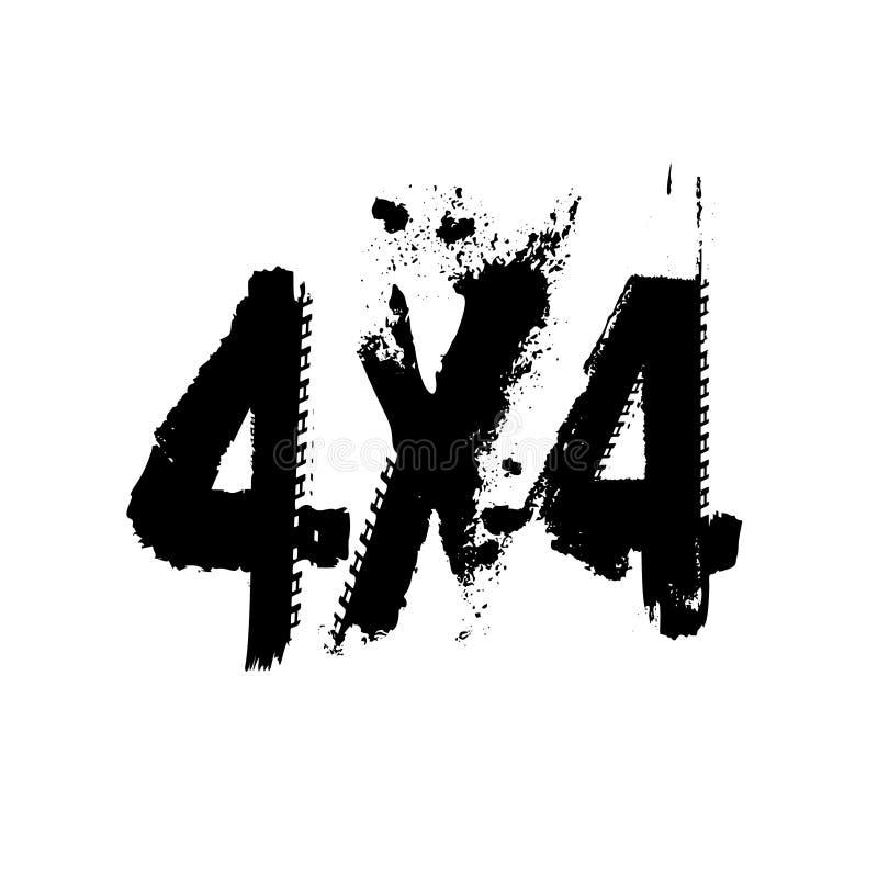 Письма следа 4x4 автошины Grunge бесплатная иллюстрация