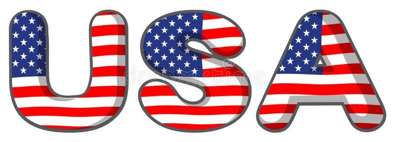 Письма США иллюстрация вектора