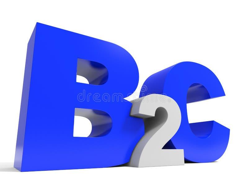 Письма тома B2C на белой предпосылке иллюстрация штока