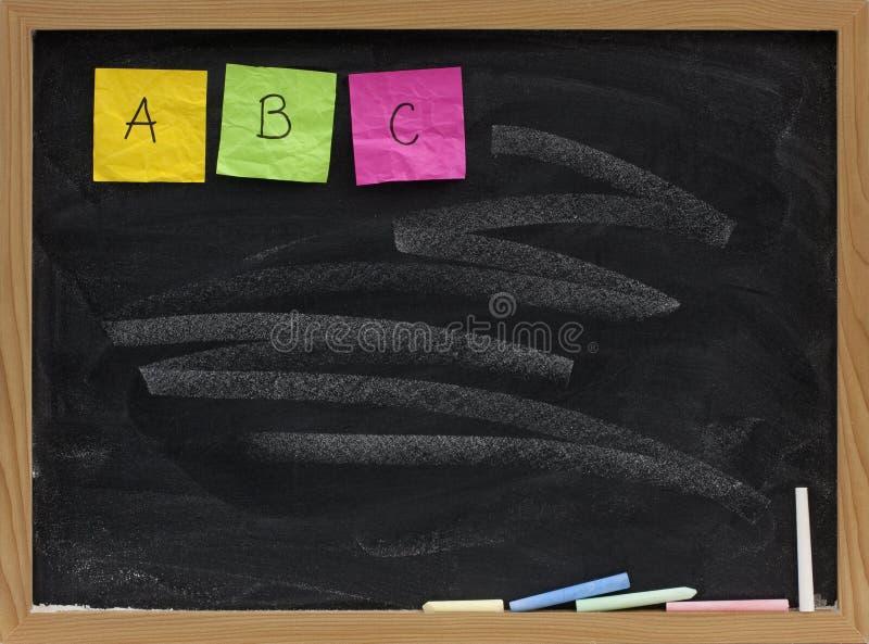 письма 3 алфавита abc первые стоковое изображение rf