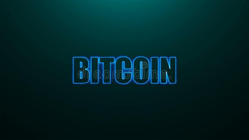 Письма Bitcoin отправляют СМС на предпосылке с верхним светом, 3d представляют предпосылку, компьютер производя для новостей бесплатная иллюстрация