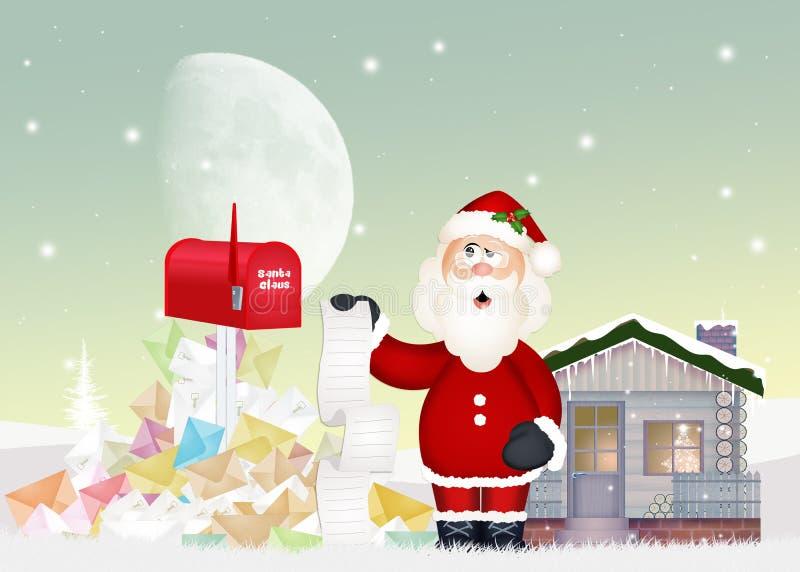 Письма ` s Санта Клауса и детей бесплатная иллюстрация