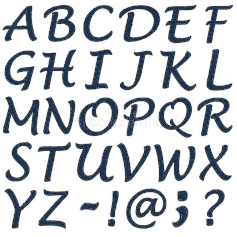 письмо джинсыов стоковое изображение rf