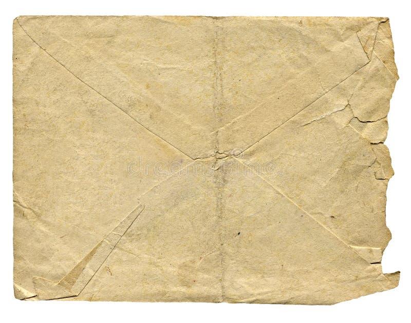 письмо изолированное габаритом старое стоковая фотография