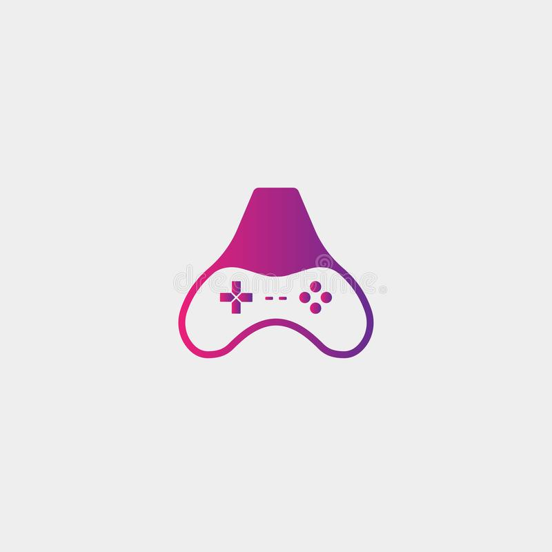 письмо иллюстрация вектора шаблона дизайна логотипа игры, элемент значка gamepad иллюстрация вектора