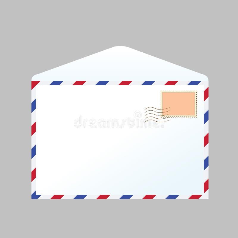 Письмо и штемпель иллюстрация вектора